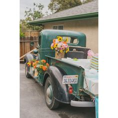 Colourful Vintage Trailer Wedding ❤ liked on Polyvore featuring home, home decor, vintage home decor, colorful home decor and vintage home accessories