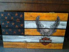 Harley Davidson scrap wood sign
