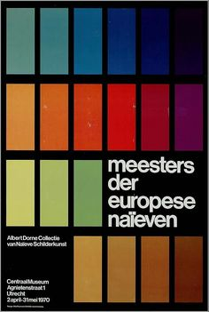 Otto Treumann, artwork for exhibition poster Centraal Museum Utrecht, 1970 - Hakelns Poster Sport, Poster Cars, Poster Retro, Poster Design, Design Art, Print Design, Print Print, Retro Design, Layout Design