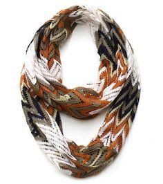 Plum Feathers Lace Zig Zag Chevron Infinity Scarf (Ivory) at Amazon Women's Clothing store: