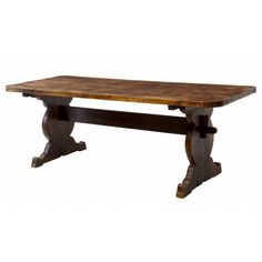 19th Century Rustic Pine Refectory Dining Table | From a unique collection of antique and modern dining room tables at https://www.1stdibs.com/furniture/tables/dining-room-tables/