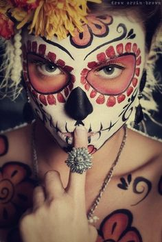 Day of the Dead make-up & ring - wow!