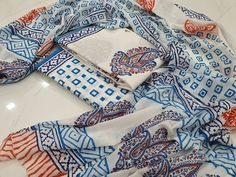 Cotton mulmul dupatta  Free shipping & COD  whatsapp 7413976951 Salwar Pants, Cotton Salwar Kameez, Suits For Sale, Suits For Women, Chinese Collar, Cotton Suit, High Collar, Summer Wear, Daily Wear