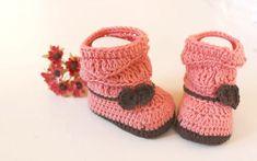 baby crochet booties boots free pattern video tutorial
