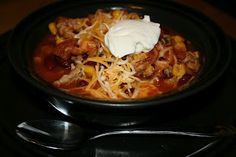 best taco soup ever, and it is EASY to make. I have made it several times :)