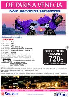 De París a Venecia - Circuito 7 Noches desde 720 € - Sólo Servicios Terrestres - Abril ultimo minuto - http://zocotours.com/de-paris-a-venecia-circuito-7-noches-desde-720-e-solo-servicios-terrestres-abril-ultimo-minuto/