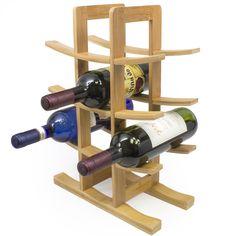 12-Bottle Bamboo Wine Rack