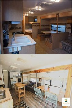 "Outstanding ""rv remodel"" info is offered on our web pages. Have a look and you will not be sorry you did. Rv Living, Tiny Living, Living In A Camper, Living Room, Buzzfeed, Shelter, Rv Homes, Travel Trailer Remodel, Rv Interior"
