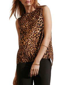 Lauren Ralph Lauren Leopard Print Faux Wrap Top