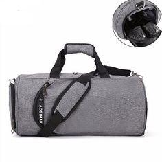 4790b74d0c Men Canvas Gym Bag New Women Fitness And Sports Shoulder Bag Hot Male  Outdoor Luggage Travel Bag Workout Storage Shoe Bag