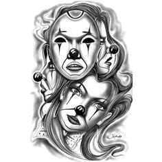 Wzór tatuażu Maski - Monika TATUAŻE