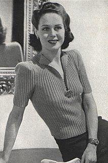 Vintage Stitch-O-Rama Free Pattern Emporium: Ribbed Blouse, 1942