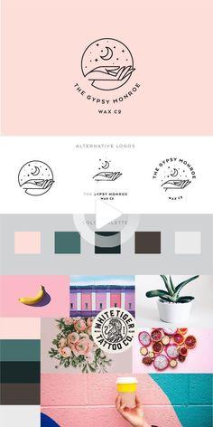 Moon and Stars Logo | Branding Kit Template | Bohemian Moon Logo Design | Branding Kit | #webdesign