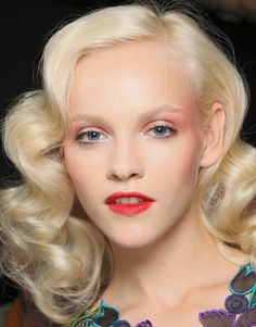 Blush lips and lids to match at Anna Sui (yegads, this looks so bad on redheads but she looks gorgeous so I'm pinning)