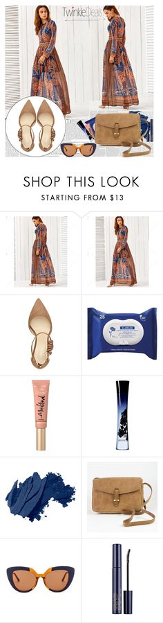 """TwinkleDeals - Vintage Giraffes Print Maxi Dress"" by fashionaddict-il ❤ liked on Polyvore featuring Balmain, Nine West, Klorane, Too Faced Cosmetics, Giorgio Armani, Bobbi Brown Cosmetics, O My Bag, Marni, Estée Lauder and vintage"