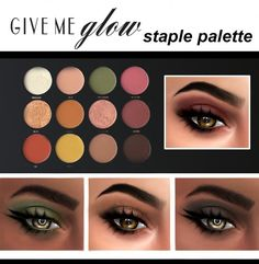 Kenzar Sims: Give Me Glow Cosmetics Staple Palette • Sims 4 Downloads