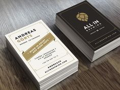 All In Brewing - business card identity