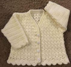 PDF by email Baby Crochet Pattern for Cardigan in DK (Birth - 6 years) Crochet Fall, Crochet Bebe, Cute Crochet, Double Crochet, Crochet Hooks, Crochet Cardigan Pattern, Crochet Patterns, Crochet Ideas, Knitting Patterns