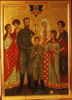 Romanov icon.  The Romanov family has been canonized in the Russian Orthodox Church.  A cathedral has been built at the place where they were executed.