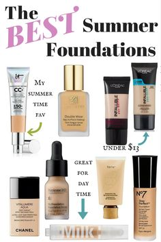 The Best Summer Foundations - make_up_pintennium Sweat Proof Foundation, Foundation For Oily Skin, Makeup Foundation, Best Foundation For Summer, Best Long Lasting Foundation, Mac Foundation Dupes, Best Foundation For Combination Skin, Best Full Coverage Foundation, Makeup Products