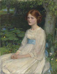 John William Waterhouse – Miss Betty Pollock, 1911, Oil on canvas, 91.5x72 cm