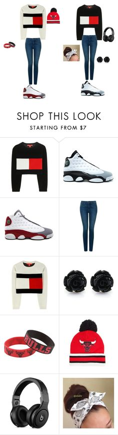 """Twins"" by ashanasturdivant on Polyvore featuring Tommy Hilfiger, Retrò, NYDJ, Forever Collectibles and Mitchell & Ness"
