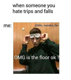 i'm gonna day this whenever my friends fall lol this is amazing Shawn Mendes Memes, Shawn Mendes Imagines, Stupid Funny, Funny Cute, Hilarious, Jessie, Minions, Pokerface, Magcon Boys