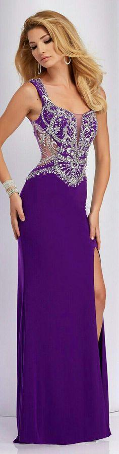❤Clarisse Prom Dress in Purple on Skirt w. Beaded Bodice & Shoulder Strap#2808❤