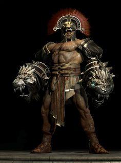 God of War Hercules - Cestus modeled/sculpted by Erik San Juan Zbrush, Good Of War, Dracula Untold, Kratos God Of War, Son Of Zeus, Roman Gods, Greek Warrior, Aztec Art, Game Concept Art