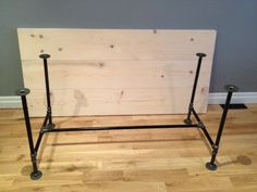 DIY Pipe Table Legs – good for dining room