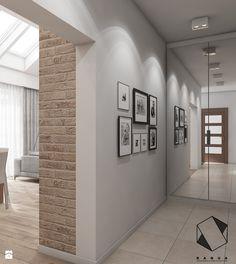 (Tarnowskie Góry) Projekt domu jednorodzinnego 14 - Hol / przedpokój, styl skandynawski - zdjęcie od BAGUA Pracownia Architektury Wnętrz