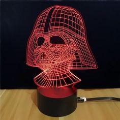 M.Sparkling Star Wars Darth Vader 3D Lamp $5.99!