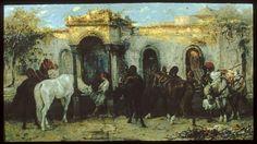 Arabs in Egypt, Sunrise  Christian Adolf Schreyer (German, 1828-1899) (Artist)