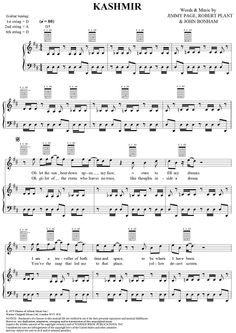 Kashmir Music | Kashmir Sheet Music Preview Page 1