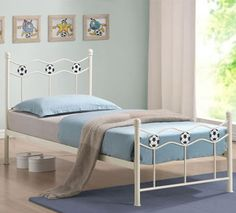 Soccer bed frame.  http://www.worldstores.co.uk/p/Chiswick_White_Soccer_Bed_Frame.htm