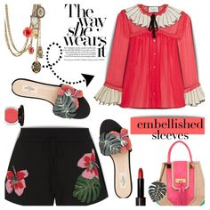 How To Wear #651 Gucci #embellishedsleeves Outfit Idea 2017 - Fashion Trends Ready To Wear For Plus Size, Curvy Women Over 20, 30, 40, 50