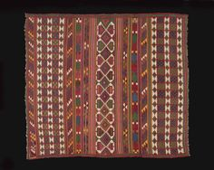 Africa | Ferrachya. Berber Tapestry Weaving, possibly for a Woman's Dowry. Gafsa, Tunisia | 3rd Quarter 19th century | Wool, tapestry weave, all natural dyes