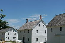 Sabbathday Lake Shaker Village, New Gloucester, Maine. (Wikipedia/Jamie Ribisi-Braley/CC BY-SA Historical Sites, 18th Century, New England, North America, Maine, Shed, Farmhouse, Community, Architecture