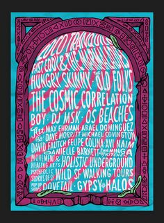 Poster for Backyard peradise, a music and art event in San Francisco
