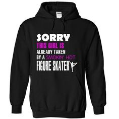 This girl is taken by a Figure skater - #tee dress #hoodie scarf. ACT QUICKLY => https://www.sunfrog.com/LifeStyle/This-girl-is-taken-by-a-Figure-skater-9982-Black-18525780-Hoodie.html?68278