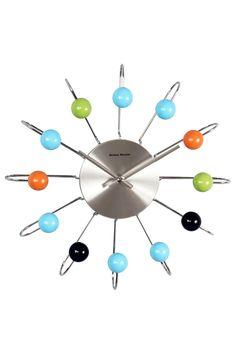 George Nelson Wooden Multicolor Atomic Clock on @HauteLook