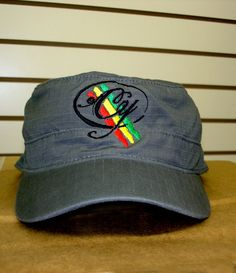 c2a1c8d3aca Cooyah military gray cap with embroidered logo  14.99 at cyevolution.com   reggae  fashion