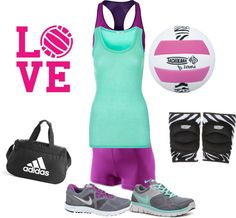"""volleyball outfit"" by isla614 on Polyvore"