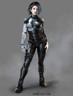 Cyberpunk armor design, Ian Llanas on ArtStation at https://www.artstation.com/artwork/cyberpunk-armor-design