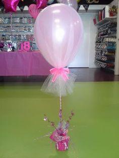 más y más manualidades: Como usar un solo globo para hacer un centro de mesa