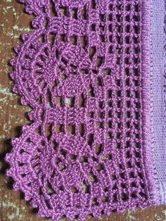 Ideas for crochet edging scarf ganchillo Crochet Edging Patterns, Crochet Lace Edging, Crochet Borders, Lace Patterns, Crochet Squares, Thread Crochet, Irish Crochet, Crochet Designs, Crochet Doilies