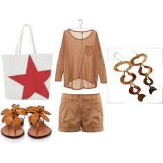 Beach style, created by Ornamenta on Polyvore