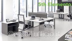 5TH06 - bench operativo/isola lavoro con mobile di servizio portante.
