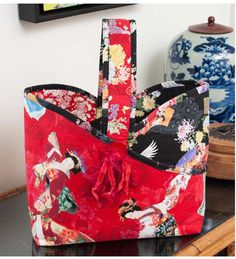 Great as a knitting or sewing basket to tote around.