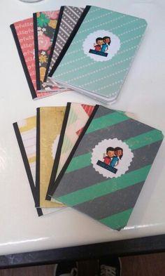 Caleb and Sofia mini notebooks